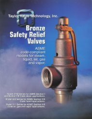 Bronze Safety Relief Valves - Brice Barclay