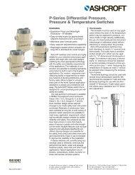 P-Series Differential Pressure, Pressure & Temperature ... - Ashcroft
