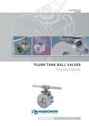 FLUSH TANK BALL VALVES