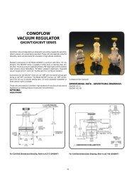 CONOFLOW VACUUM REGULATOR sub-atmospheric diaphragms construction connections