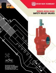SERIES 8200/8300 SAFETY RELIEF VALVES