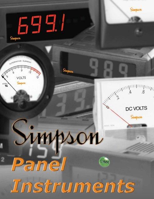 03320 NO SIMPSON AC AMPERES METER 0-15A RANGE MODEL 1359 CAT