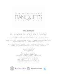 Les buffets 2011-2012 - Lausanne Palace et Spa