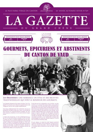 La gazette - Lausanne Palace et Spa