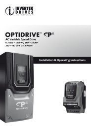 AC Variable Speed Drive Installation & Operating Instructions