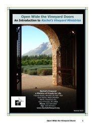 Open Wide the Vineyard Doors