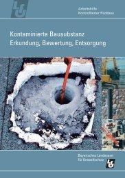 Kontaminierte Bausubstanz - Abfallratgeber Bayern