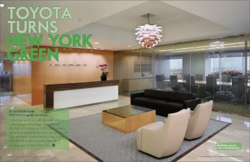TOYOTA TURNS NEW YORK GREEN