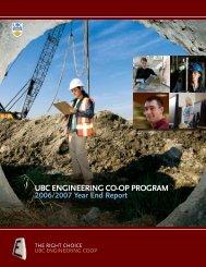 UBC ENGINEERING CO-OP PROGRAM