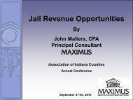 Jail Revenue Opportunities