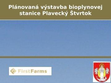 Plánovaná výstavba bioplynovej stanice Plavecký Štvrtok