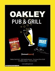 Oakley Pub & Grill ~ 3924 Isabella Avenue ~ Cincinnati, Ohio 45209 ...