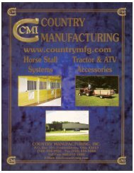 Country Manufacturing On-line Catalog Horse Stalls and Equipment