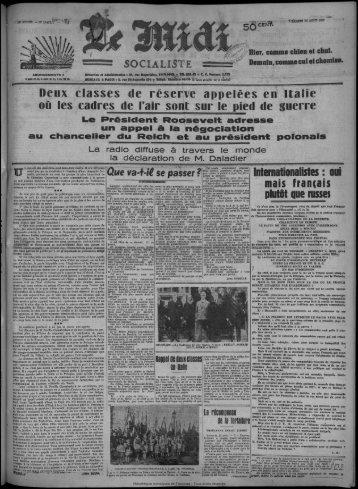 au chancelier du Reich et au président polonais - Bibliothèque de ...
