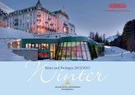 Rates and Packages 2012/2013 - Grand Hotel Kronenhof