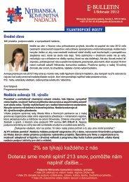 číslo 1/február 2012 - Nitrianska komunitná nadácia