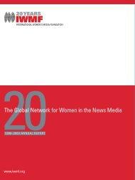 Annual Report 2008-09 - International Women's Media Foundation
