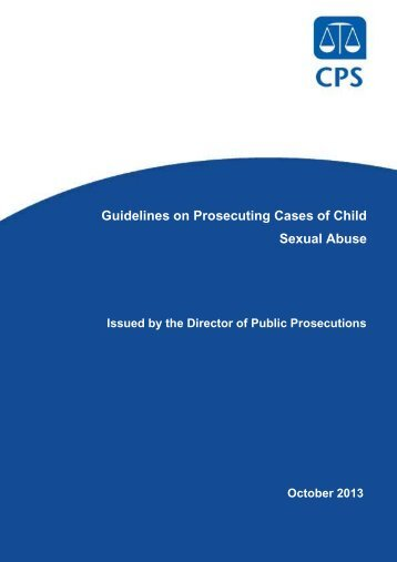 Guidelines on Prosecuting Cases of Child Sexual Abuse