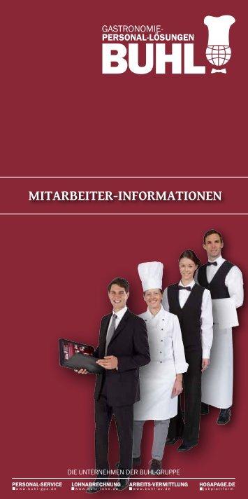 mitarbeiter-informationen - BUHL Gastronomie-Personal-Service ...