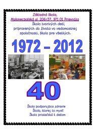 Základná škola, Malonecpalská ul. 206/37, 971 01 Prievidza Škola ...