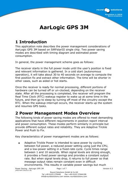 AarLogic GPS 3M 1 Introduction - Round Solutions