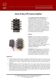 Active 8-Way GPS Antenna Splitter - ppm GmbH