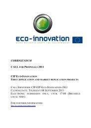 CIP Eco-innovation - European Commission - Europa