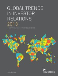 GLOBAL TRENDS IN INVESTOR RELATIONS 2013