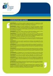 Le texte de la Convention des Maires