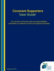 Covenant Supporters 'User Guide'
