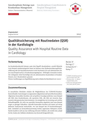 PDF 1,3 MB   20 Seiten - CLINOTEL-Journal