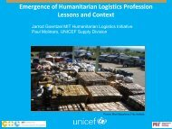 Emergence of Humanitarian Logistics Profession - People that Deliver