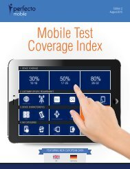 Mobile Test Coverage Index