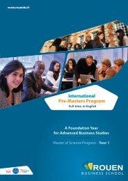 International Pre-Masters Program
