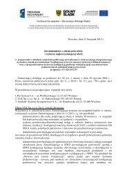 Fundusze Europejskie – dla rozwoju Dolnego Śląska Wrocław, dnia ...
