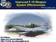 Improved F-16 Weapon System Effectiveness