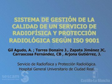sistema de gestión de la calidad de un servicio de radiofísica y p.r. ...