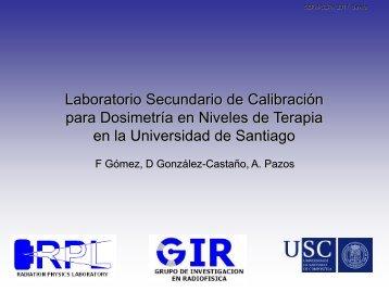 para Dosimetría en Niveles de Terapia en la Universidad de Santiago