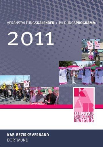 Bildungskalender Dortmund 2011 - KAB DV Paderborn