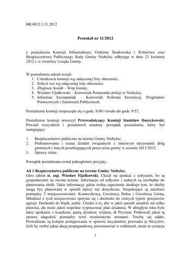 Protokół nr 11/2012