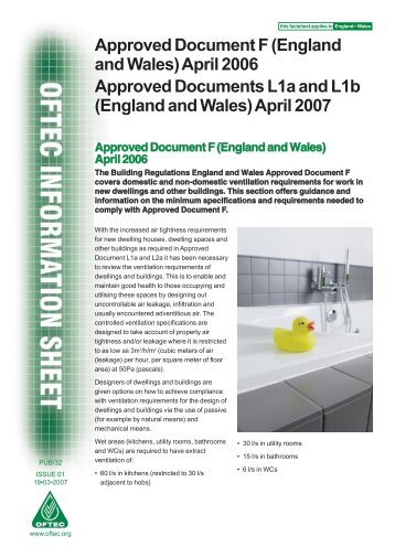 Approved Document F (England and Wales) - Commercial Fuel ...