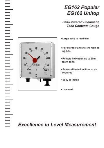EG162 Popular EG162 Unitop Excellence in Level Measurement