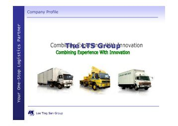 Your One - Stop Logistics Partner