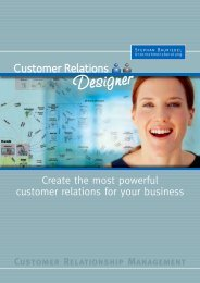 Customer Relations Designer - Unternehmensberatung Stephan ...