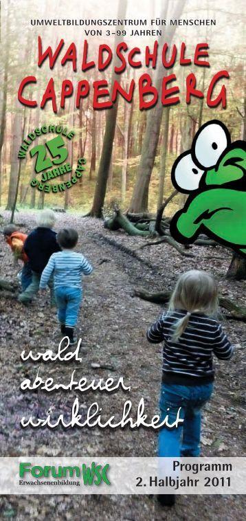 Programm 2. Halbjahr 2011 - bei der Waldschule Cappenberg