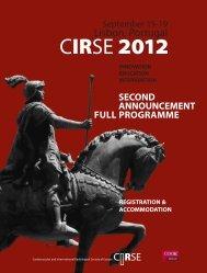 RSE - CIRSE.org