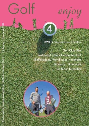 BWGV Verbandsnachrichten Golf Club Ulm Restaurant - Niko März
