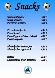 Aktuelle Snack- und Getränkekarte - JAKOarena