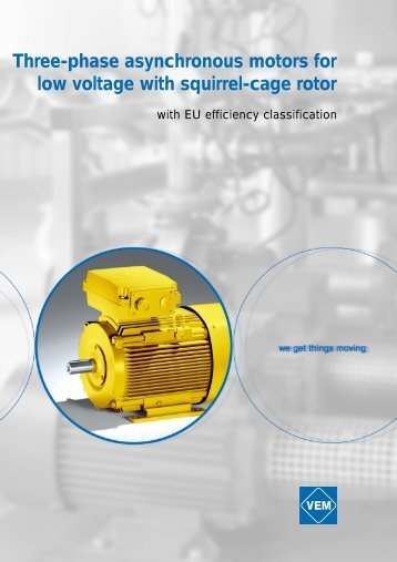 Three-phase asynchronous motors for low voltage with squirrel-cage rotor