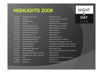 HIGHLIGHTS 2006.pdf - Night & Day Live